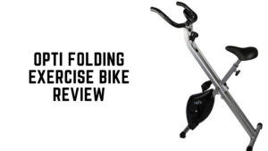 opti folding exercise bike review